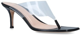 Gianvito Rossi Plexi Lotus Sandals 70
