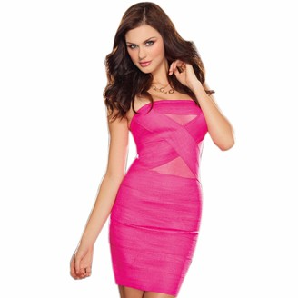 Dreamgirl Women's The Modernista Stretch Elastic Bandage Dress