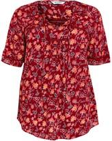 Evans Red Floral Print Crochet Top