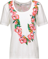 Y-3 Floral-print cotton-jersey T-shirt