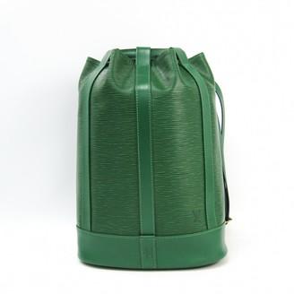 Louis Vuitton RandonnAe Green Leather Backpacks