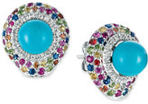 LeVian Le Vian® Robin's Egg TurquoiseTM (7 ct. t.w.) and Sapphire (2-1/8 ct. t.w.) Stud Earrings in 14k White Gold