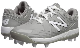 New Balance 4040v5 Baseball (Little Kid/Big Kid) (Grey/White) Kids Shoes