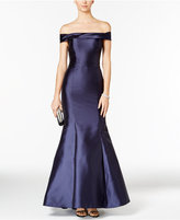 Xscape Evenings Off-The-Shoulder Satin Mermaid Gown