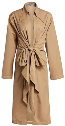 Silvia Tcherassi Gaia Knotted Trench Coat