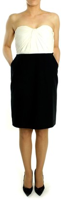 Paul & Joe Black Silk Word of Honor Dress - 40 - Black/White