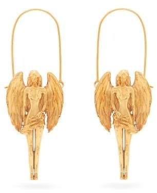 Givenchy Virgo Zodiac Hoop Earrings - Womens - Gold