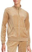MICHAEL Michael Kors Velour Zip-Front Jacket