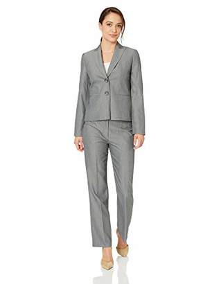 Le Suit Women's Petite 2 BTN Peak Lapel Pant Suit