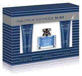 Nautica N83 3 Piece Gift Set (1.0 Ounce Eau De Toilette Plus 2.5 Ounce Aftershave Balm Plus 2.5 Ounce Shower Gel) by