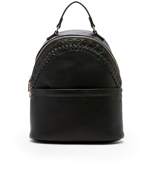 Sole Society Women's Anora Dome Backpack Vegan Leather Shoulder Black One Size From