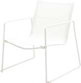 Houseology Gloster Asta Stacking Lounge Chair - White Frame - White