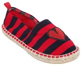 Colors of California Striped Cotton Canvas Espadrilles