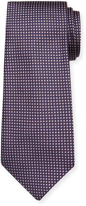 Emporio Armani Men's Small Dot-Print Silk Tie