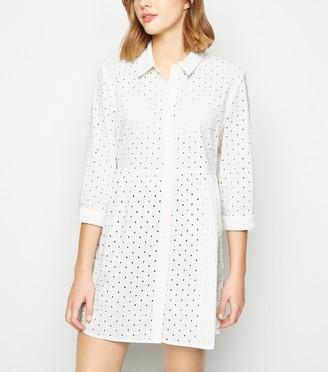 New Look JDY Broderie Shirt Dress