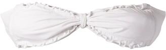 AMIR SLAMA ruffled trim bandeau bikini top