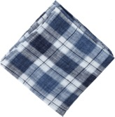 Brunello Cucinelli Linen Plaid Pocket Square
