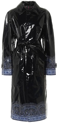 Etro Exclusive to Mytheresa Paisley coated canvas trench coat