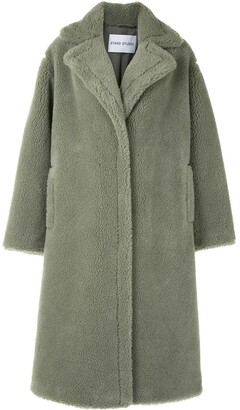 Stand Studio Faux-Shearling Oversized Coat