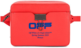 Off-White Off White Camera Bag in Coral Red | FWRD