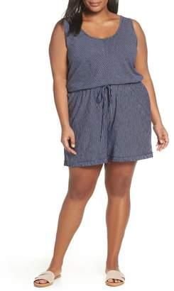 Caslon Sleeveless Jersey Romper (Plus Size)