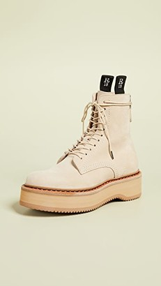 R 13 Single Stack Suede Boots
