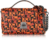 Akris Iberica Print Tangerine Leather Small Anouk Shoulder Bag