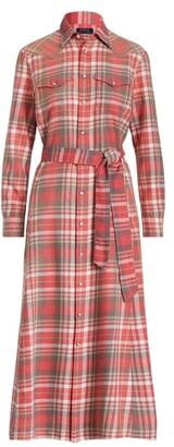 Ralph Lauren Plaid Cotton Shirtdress - Size 6
