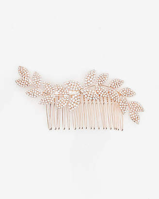 Le Château Gem Encrusted Leaf Hair Comb