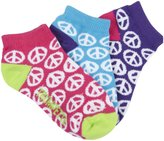 Trumpette Peace Kid Socks (Toddler/Kid) - Bright Print-Medium