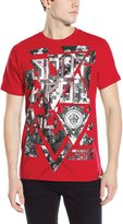 Southpole Men's High Definition Foil and Print Tee with Background Patterns