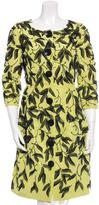 Oscar de la Renta Silk Embellished Coat