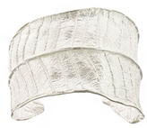 Plumeria Leaf Silver Cuff