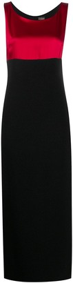Gianfranco Ferré Pre-Owned 2000s Contrasting Panel Long Dress