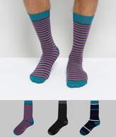 Ted Baker Socks In 3 Pack Gift Set Stripe