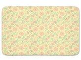 uneekee Birds And Fan Flowers Bathroom Rugs: Incrediby Soft Memory Foam Spa Quality