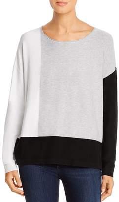 Donna Karan Color-Block Drop-Shoulder Sweater