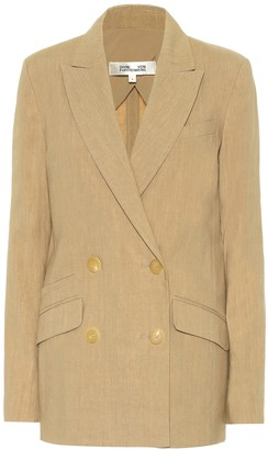 Diane von Furstenberg Madison double-breasted linen blazer