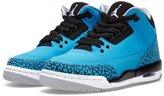 "Nike Jordan 3 Retro ""Powder Blue"" BG Big Kids Basketball Shoes Dark Powder Blue/White-Black-Wolf Grey 39861-06 ( M US)"