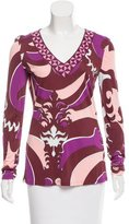 Emilio Pucci Abstract Print Long Sleeve Top w/ Tags