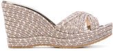 Jimmy Choo Pandora sandals - women - Leather/Canvas/Foam Rubber - 37