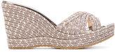 Jimmy Choo Pandora sandals - women - Leather/Canvas/Foam Rubber - 38.5