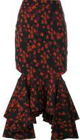 Givenchy fitted peplum skirt - women - Viscose/Spandex/Elastane/Acetate/Silk - 36