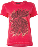 Diesel feathers print T-shirt
