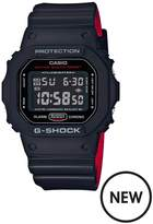 Casio Casio G-Shock All Black Dial Black And Red Detail Silicone Strap Mens Watch
