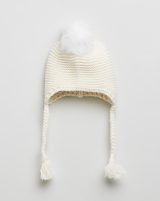 Morgan & Taylor Girl's White Beanies - Sierra Mini Beanie - Kids - Size One Size at The Iconic