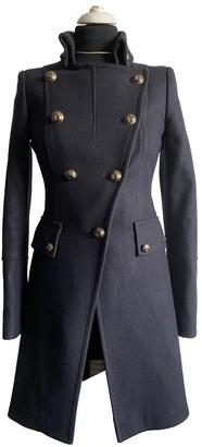 Pinko Blue Wool Coat for Women