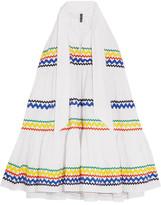 Lisa Marie Fernandez Rickrack-trimmed Cotton-poplin Mini Dress - White
