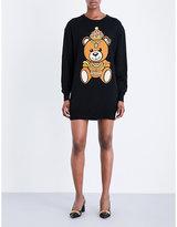 Moschino Teddy Bear-intarsia knitted mini dress