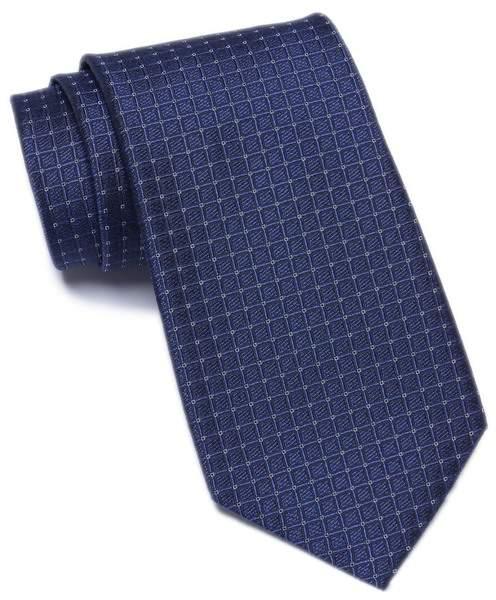 Calvin Klein Mini Grid Silk Tie